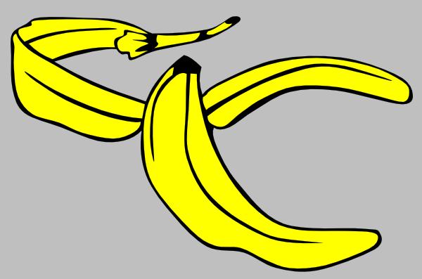 Banana clipart banana peel Clker as: vector online Clip