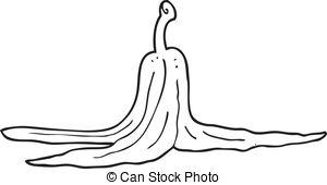 Banana clipart banana peel  drawn white Banana peel