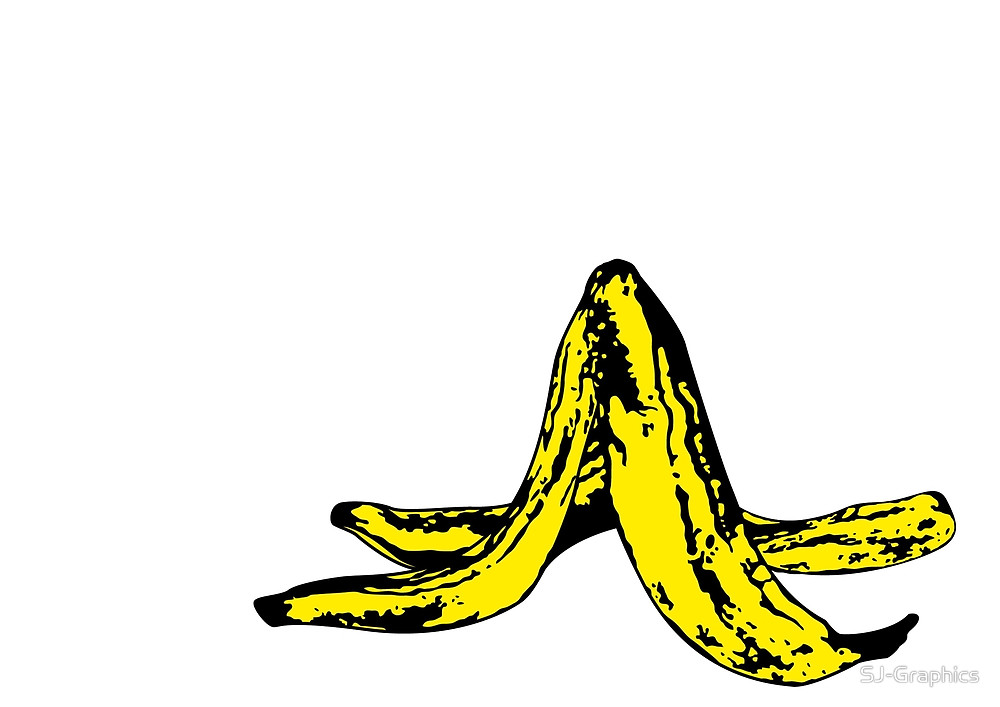 Banana clipart banana peel Graphics Redbubble Banana Peel Graphics