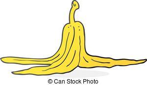 Banana clipart banana peel On white with cartoon banana