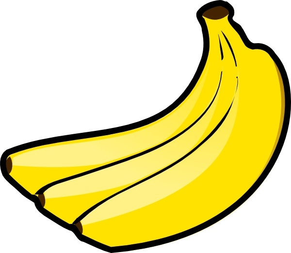 Banana clipart blank Drawing in Free svg vector