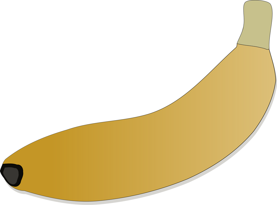 Banana clipart blank Of a Free Stock 11397