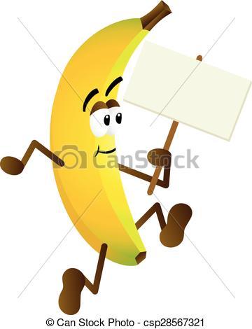 Banana clipart blank Signboard Banana Illustration Scalable of