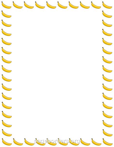 Banana clipart border Banana Art Page Border: Vector