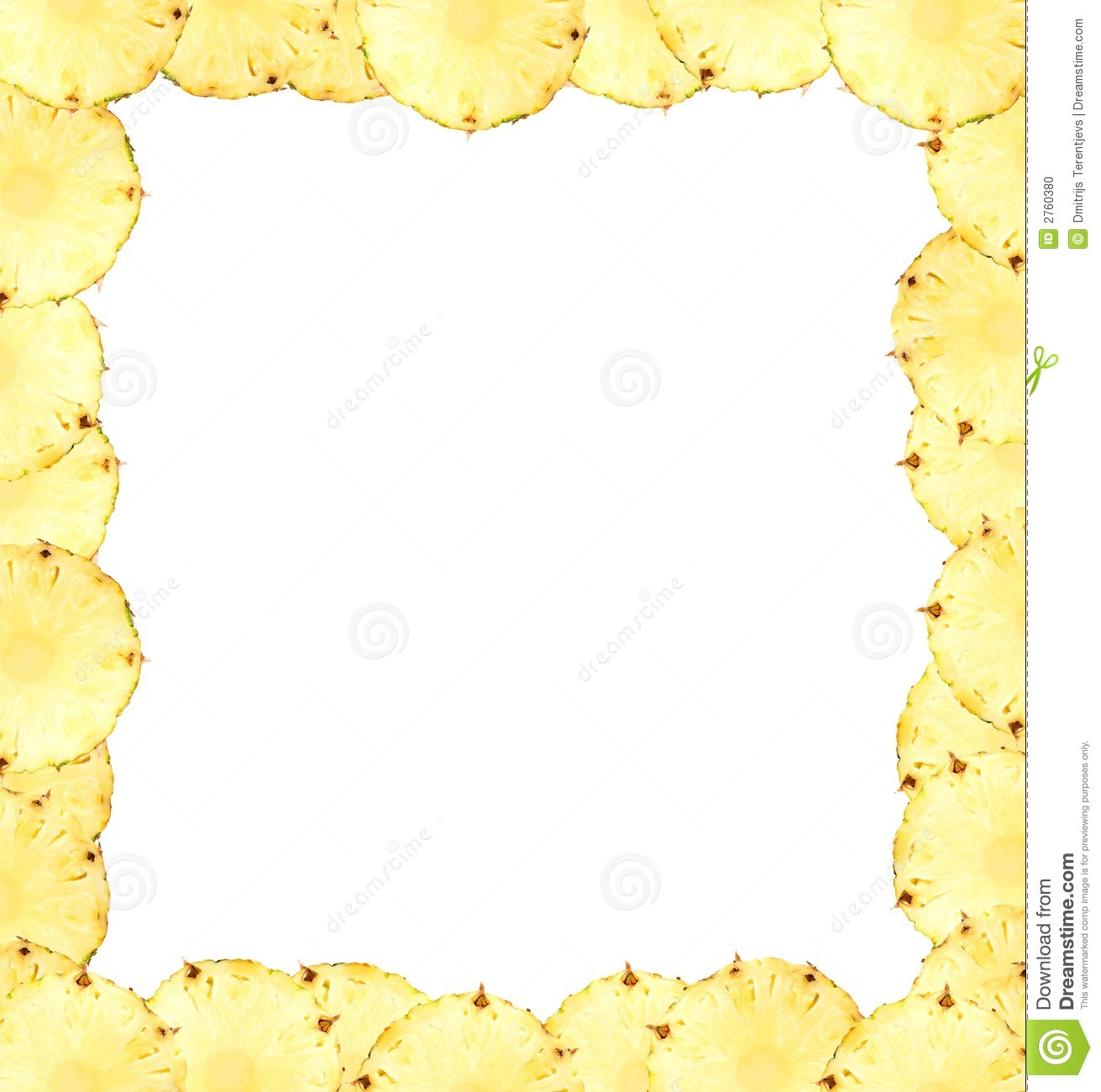 Banana clipart border Pineapple cliparts Clipart Border Pineapple