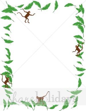 Banana clipart border Jumping Border Party Jumping Backgrounds