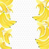 Banana clipart border  GoGraph bananas Bananas bunches