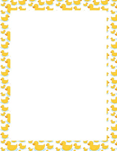 Banana clipart border A Blue cartoon Frame ducks