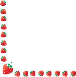 Banana clipart border Strawberry Strawberry Clipart Strawberry Border