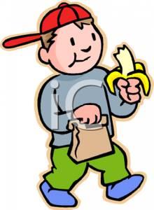Banana clipart boy Boy Image: Eating Clipart A