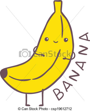 Banana clipart cartoon character Royalty free stock clip cartoon
