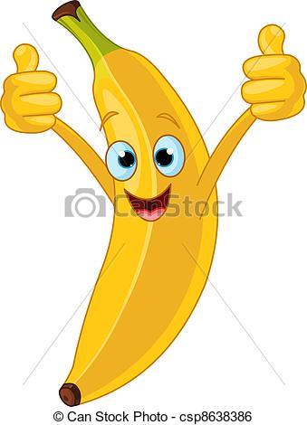 Banana clipart cartoon character Vector of Clip Banana Banana