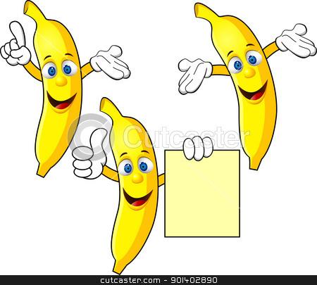 Banana clipart cartoon character Vector character character Banana Banana