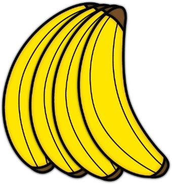 Banana clipart color yellow Bunch Vektor of of 1000