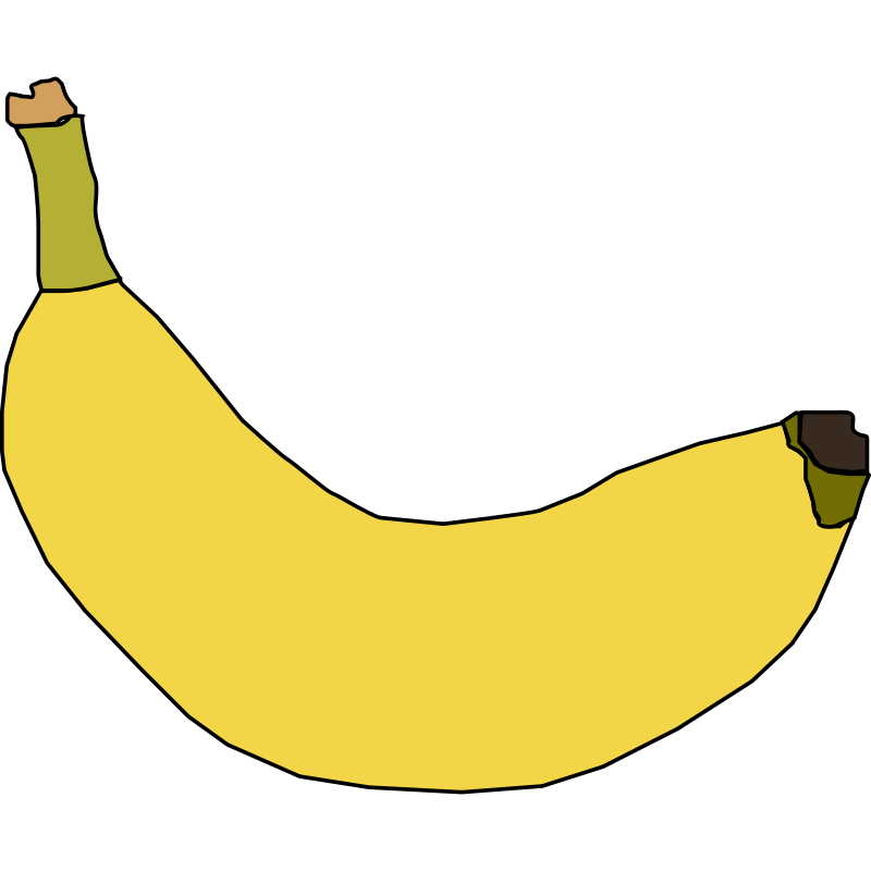 Banana clipart color yellow Free  Pictures banana2 Free