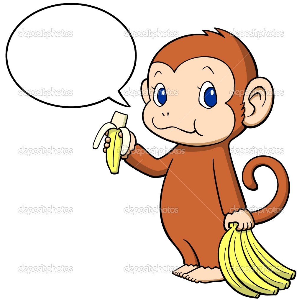 Banana clipart cute Clipart With Banana Clipart Monkey
