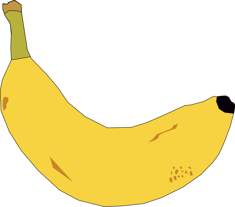 Banana clipart different fruit Org Clipart Of Free Free