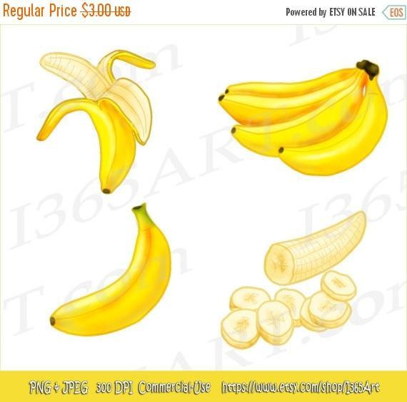 Banana clipart different fruit Embellishments art 50% Scrapbooking Fruit