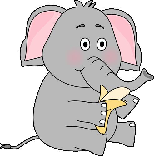 Banana clipart elephant Banana Eating Elephant a Eating