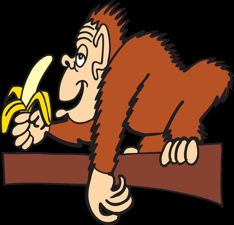 Banana clipart elephant Banana Eating clip eating monkey
