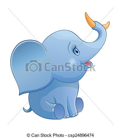 Banana clipart elephant Stock of Illustrations csp24896474 elephant