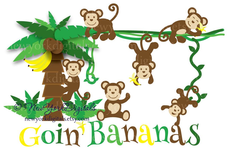 Climbing Tree clipart Free Cartoon Monkey Images Banana