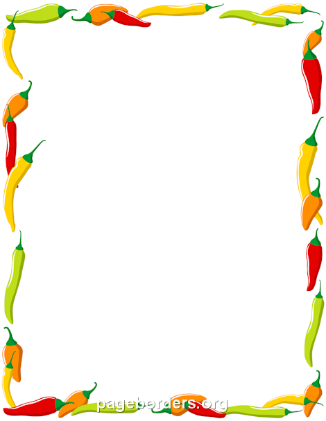 Carrot clipart vegtable Page Borders: Art Borders Pepper