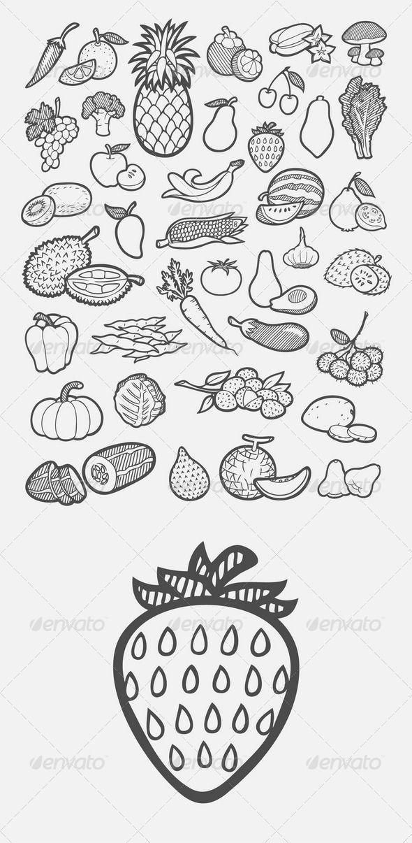 Banana clipart fruit and veg 20+ Pinterest on avocado ideas