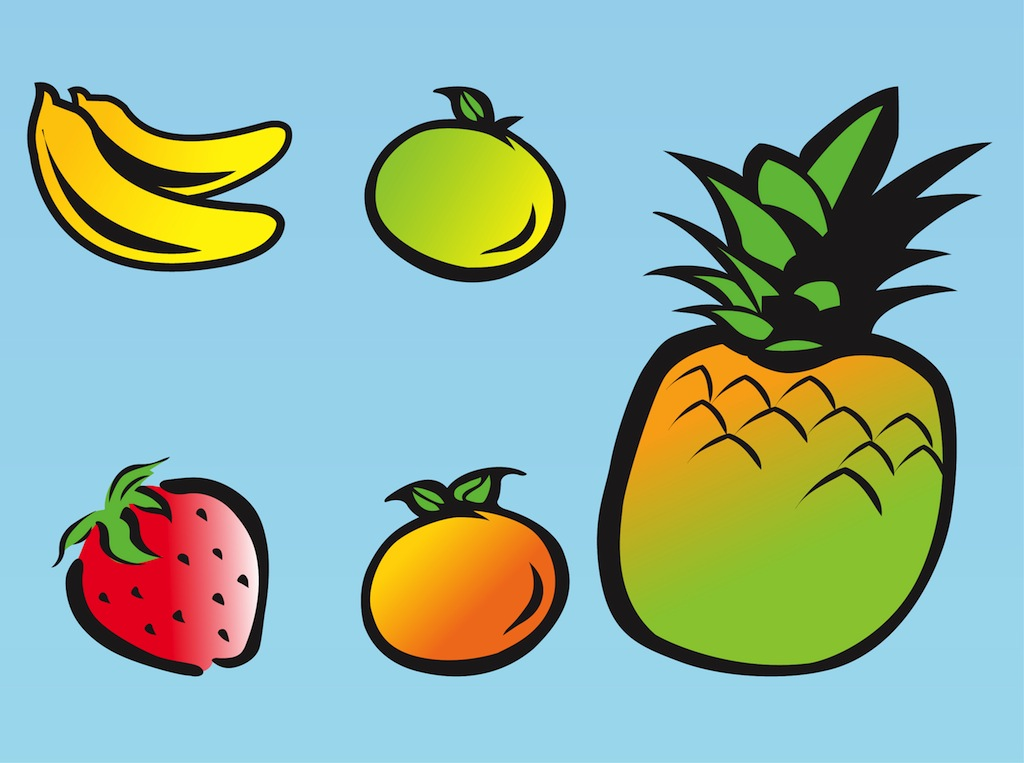 Banana clipart fruits and vegetable Cartoon And Download Vegetables