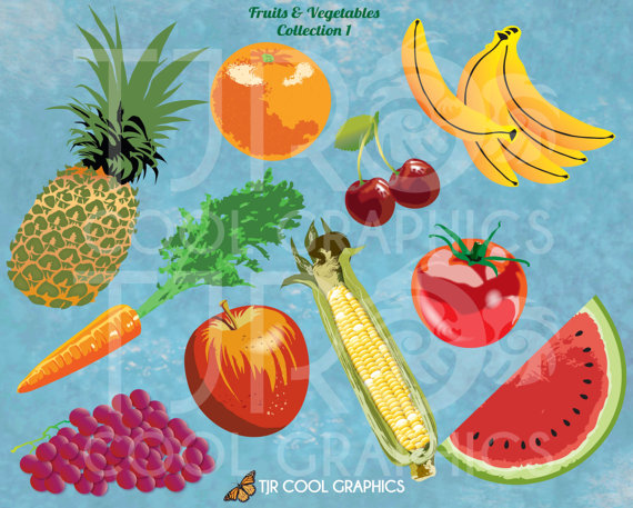 Banana clipart fruits and vegetable Realistic 1 Red Art Clip