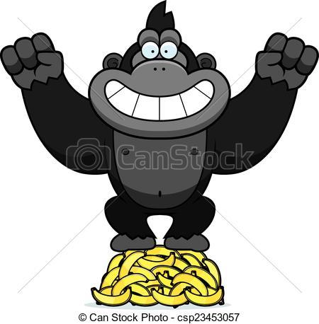 Banana clipart gorilla A  illustration cartoon csp23453057