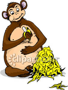 Banana clipart gorilla Bananas Monkey Clipart Fat cliparts