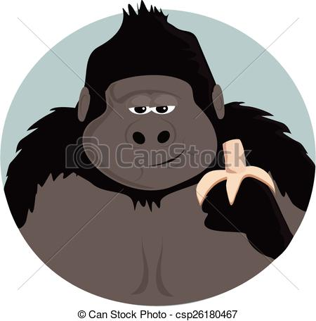 Banana clipart gorilla Eating A banana a banana