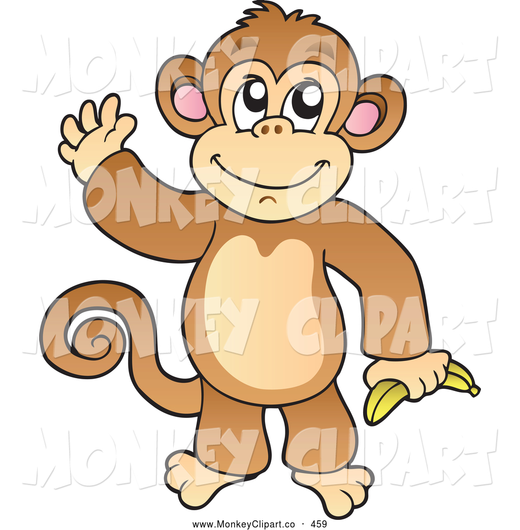 Banana clipart gorilla The by Clipart Holding Of