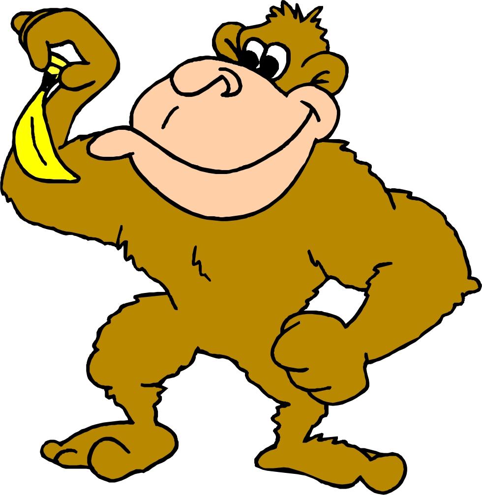 Banana clipart gorilla With monkey%20with%20banana%20clip%20art Monkey Free Baby