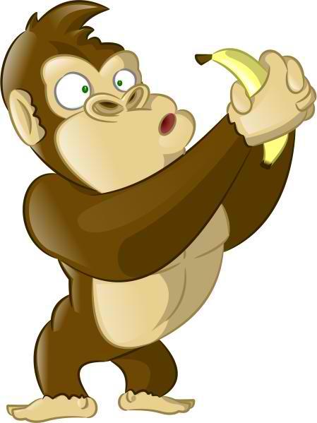 Banana clipart gorilla Banana Gorilla Mascot Curious