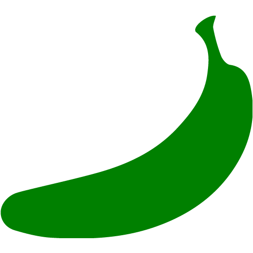 Banana clipart green banana 2 banana icon Green Free