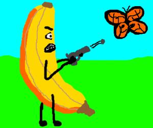 Banana clipart gun Shooting With Banana a gun
