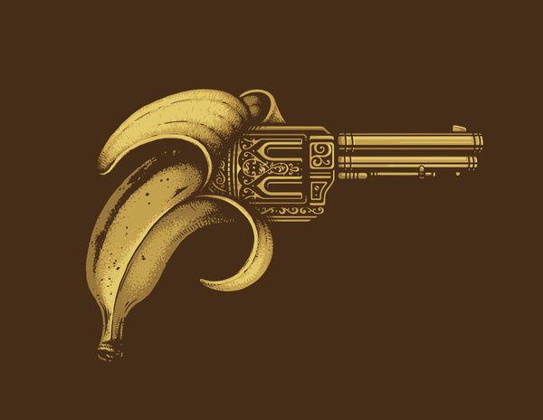 Banana clipart gun Gun ideas art Art Gun