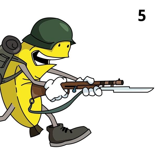 Banana clipart gun Warfare Newgrounds Banana on Banana