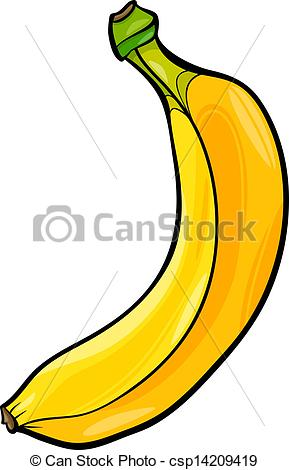 Banana clipart illustration Fruit banana fruit Art of
