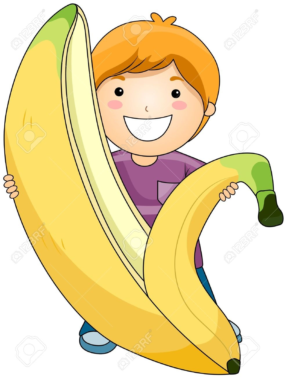 Banana clipart individual Clipart Eating Banana Banana clipartsgram