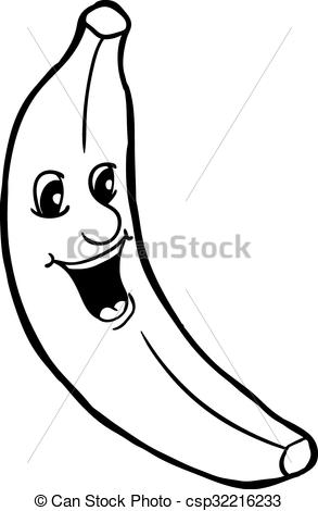 Banana clipart line drawing Vectors smile with vector smile