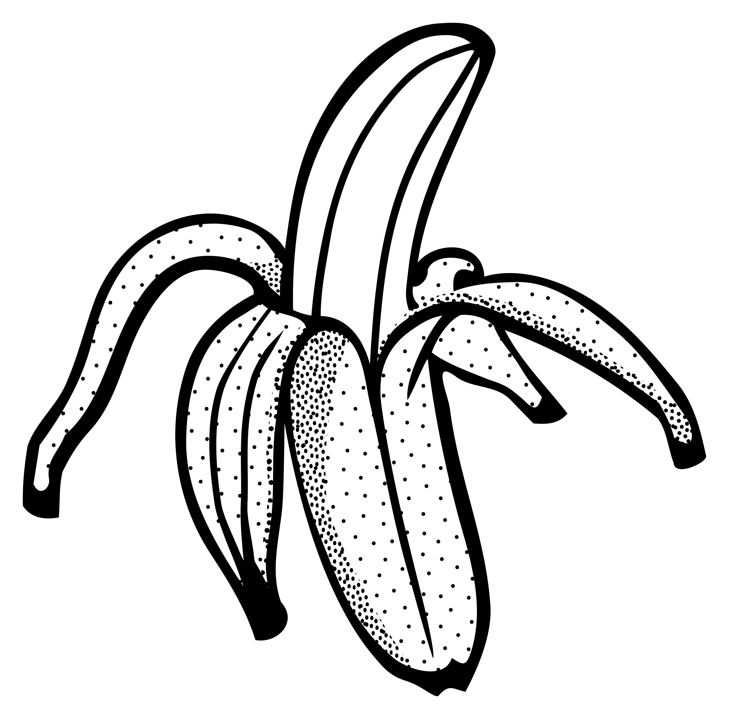 Banana clipart line drawing Lineart Clipart lineart banana banana