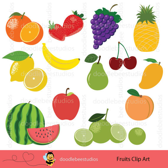 Lemon clipart kalamansi Cherries Art Clip Set Apple