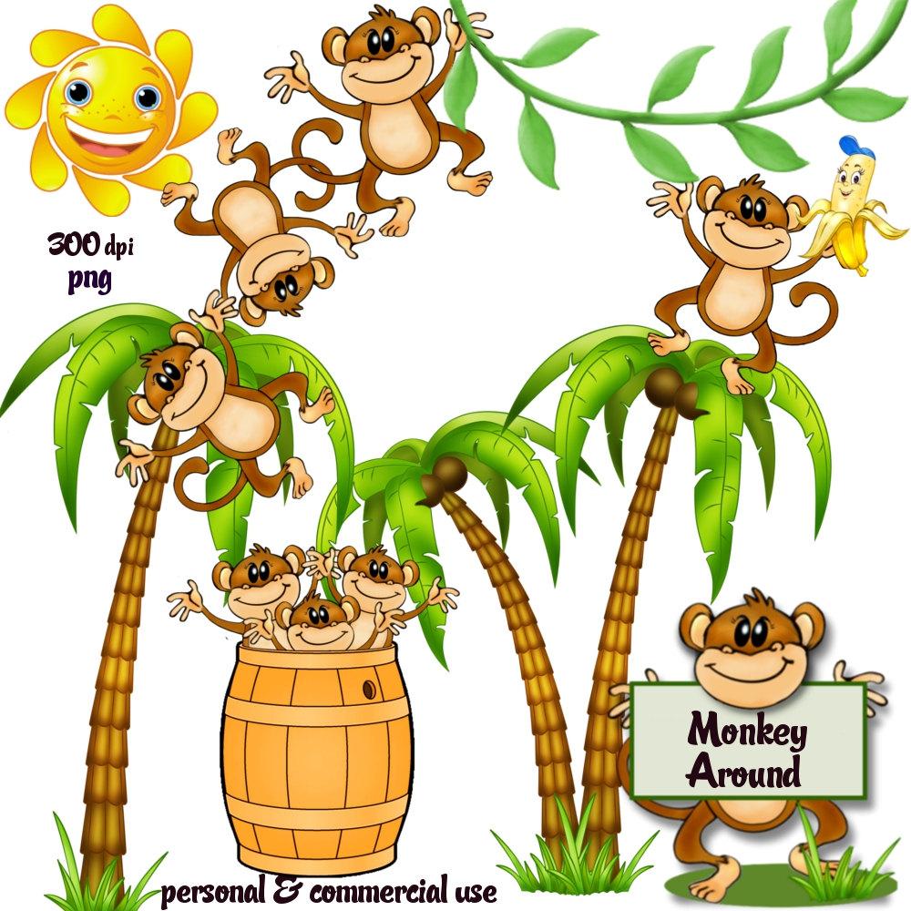 Barrel clipart monkey Clip Panda Clipart Banana Monkey