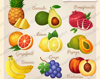 Orange (Fruit) clipart sour food Set clipart banana Etsy Banana