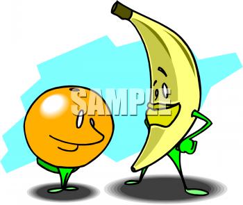 Banana clipart orange fruit Orange clipart of fruit color