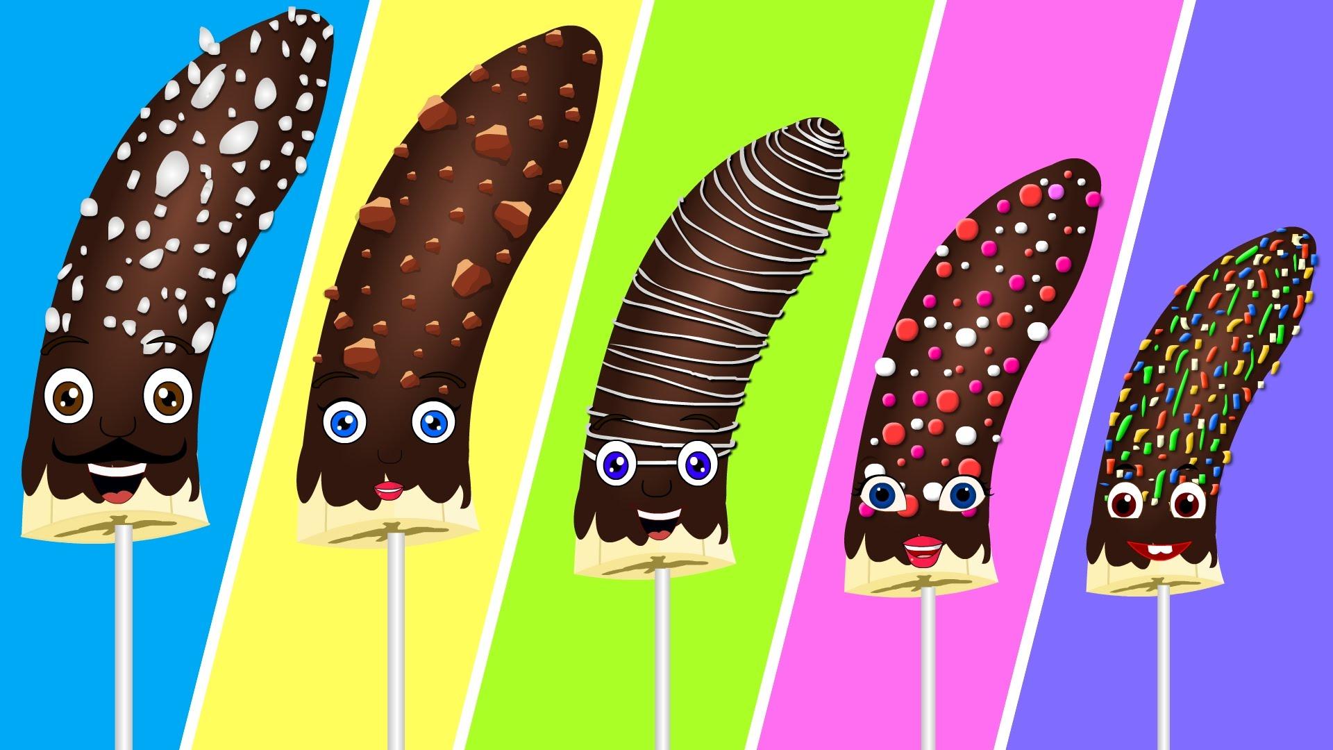 Popsicle clipart banana Popsicles Finger Finger Family Chocolate