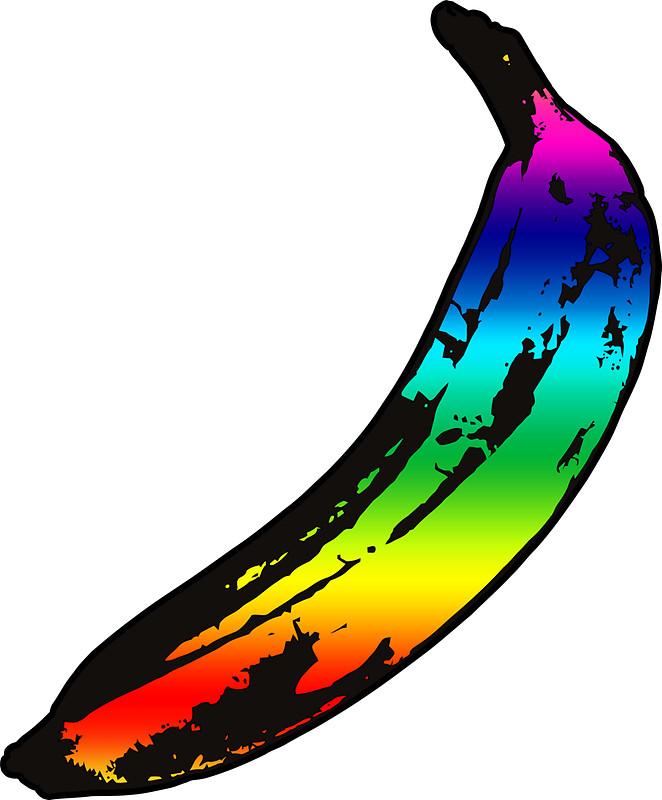 Banana clipart rainbow Carteblantze Rainbow Banana Redbubble Stickers